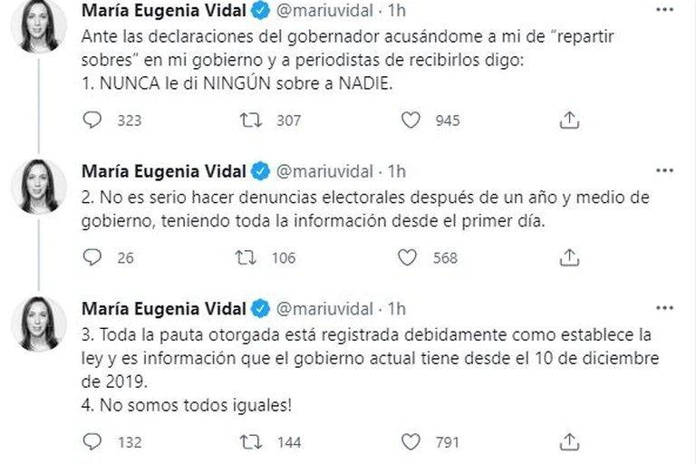 Axel Kicillof acusó a María Eugenia Vidal de
