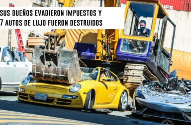 Sus dueños evadieron impuestos y 7 autos de lujo fueron destruidos