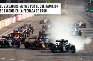 El verdadero motivo por el que Hamilton se excedió en la frenada de Bakú