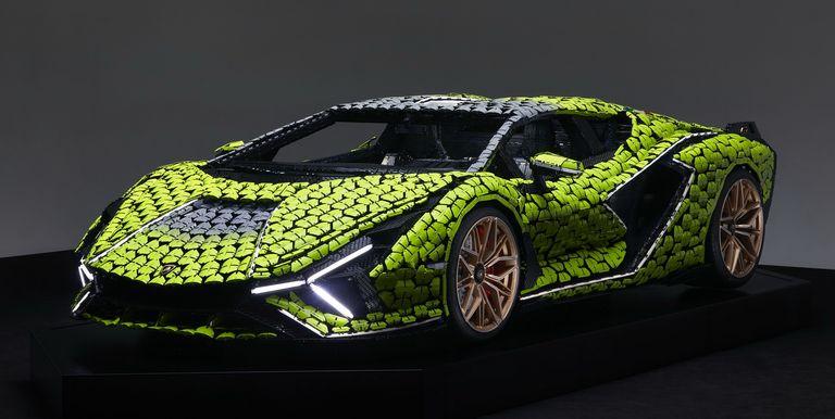 ¡Increíble! Lego fabricó un Lamborghini Sian en tamaño real con 400.000 piezas