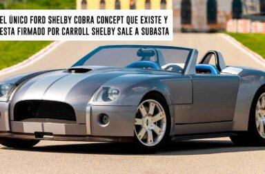 El único Ford Shelby Cobra Concept que existe y está firmado por Carroll Shelby sale a subasta
