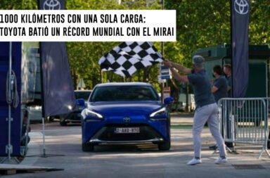 1000 kilómetros con una sola carga: Toyota batió un récord mundial con el Mirai