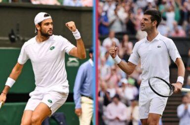 Djokovic y Berrettini definirán el trofeo de Wimbledon