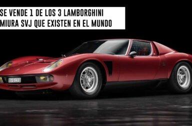 Se vende 1 de los 3 Lamborghini Miura SVJ que existen en el mundo