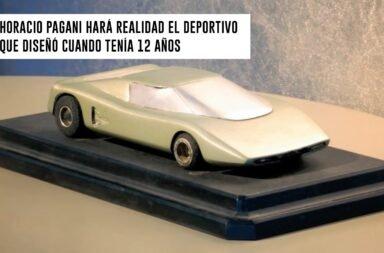 Horacio Pagani hará realidad el deportivo que diseñó cuando tenía 12 años