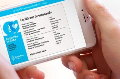 Como tramitar el certificado de vacunación en la provincia de Buenos Aires