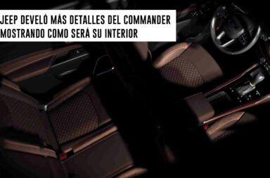 Jeep develó más detalles del Commander mostrando cómo será su interior