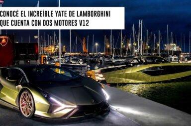 Conocé el increíble yate de Lamborghini que cuenta con dos motores V12
