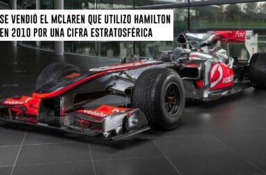Se vendió el McLaren que utilizó Hamilton en 2010 por una cifra estratosférica