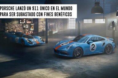 Porsche lanzó un 911 único en el mundo para ser subastados con fines benéficos