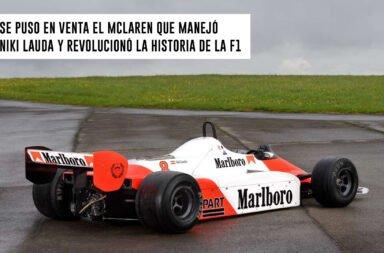 Se puso a la venta el McLaren que manejó Niki Lauda y revolucionó la historia de la F1