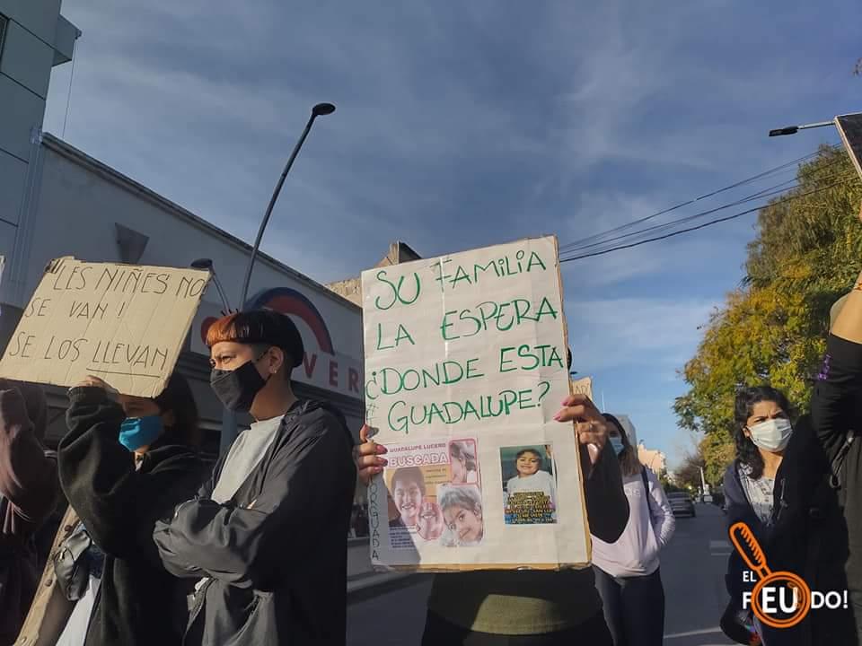 Marcha a dos meses de la desaparición de Guadalupe Lucero:
