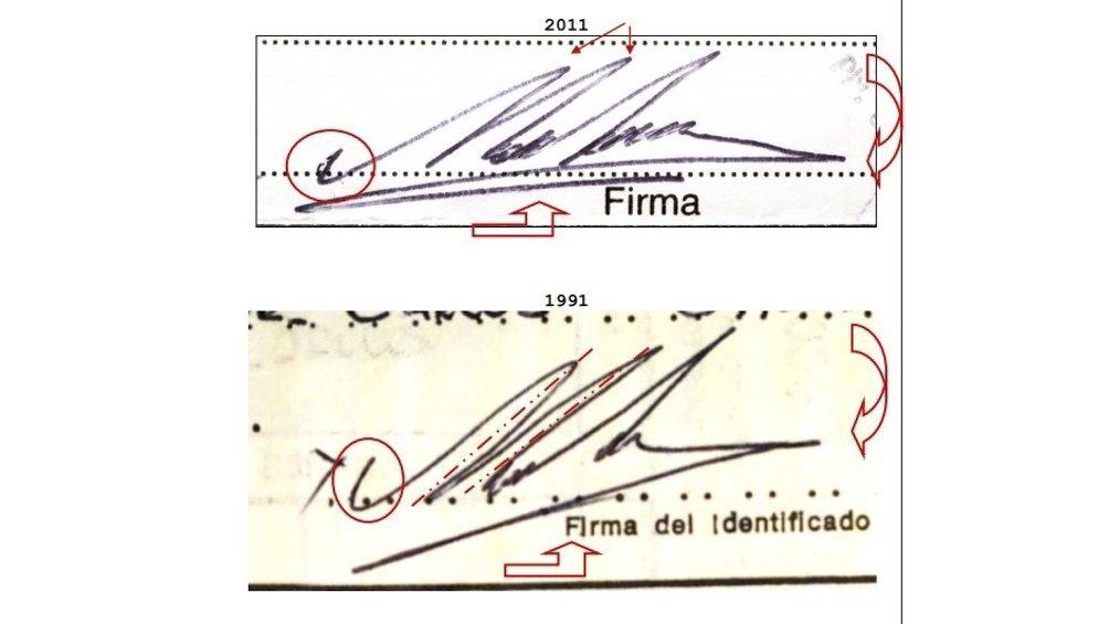 firma Maradona falsa