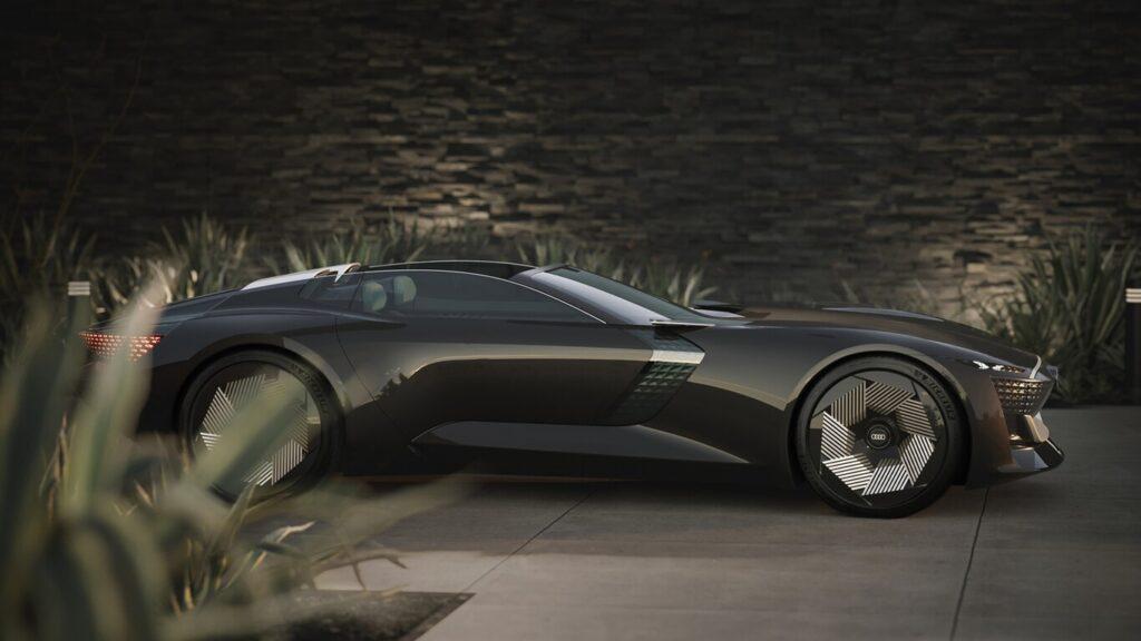 El llamativo Audi skysphere que es autónomo, esconde su volante y se expande