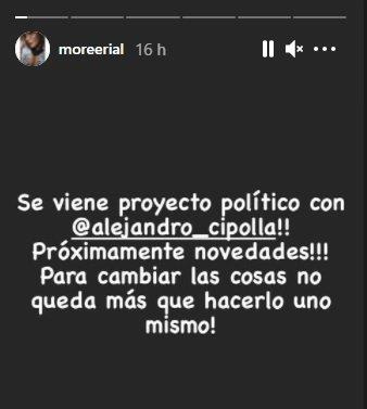 More Rial se suma a la política: