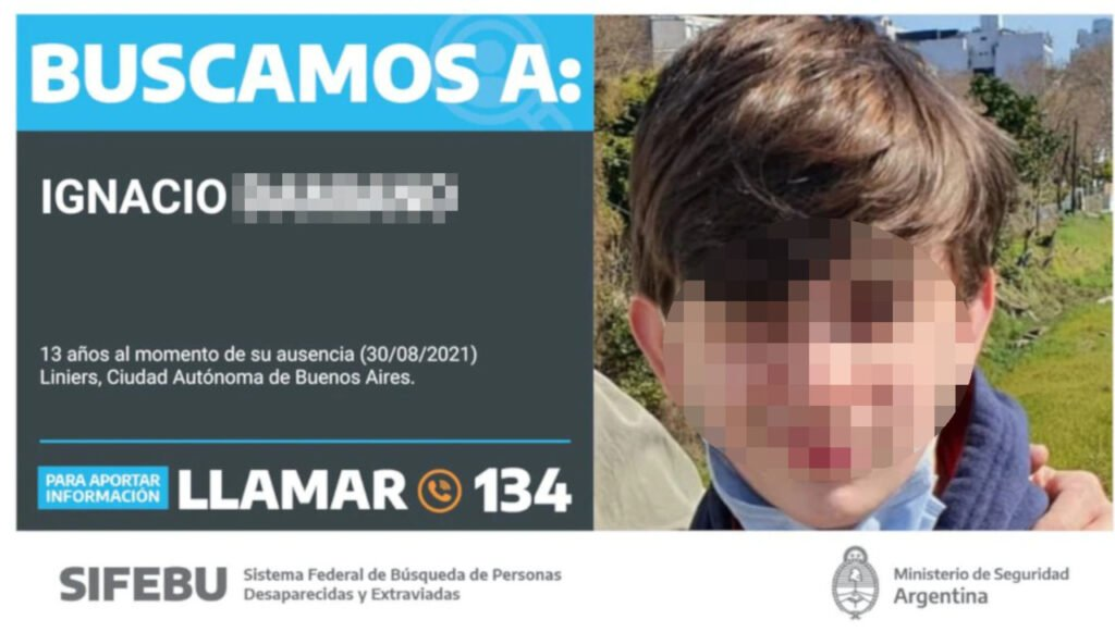 Nene desaparecido en Liniers