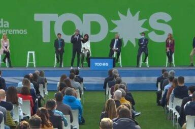 Alberto Fernández y Cristina Kirchner en La Plata