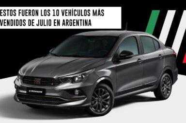 Estos fueron los 10 vehículos más vendidos de julio en Argentina