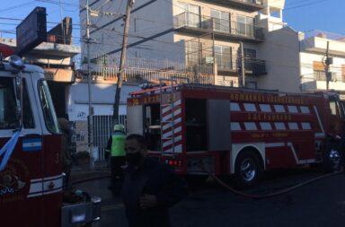 El edificio donde se produjo el incendio en Caseros