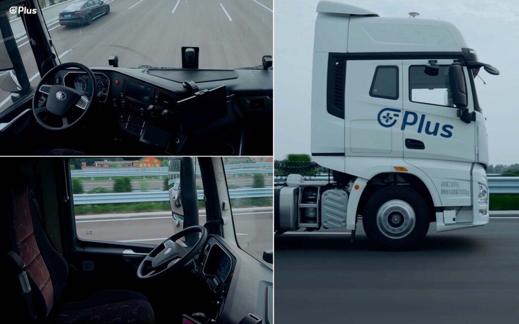 En China probaron con éxito un camión autónomo que circuló sin conductor