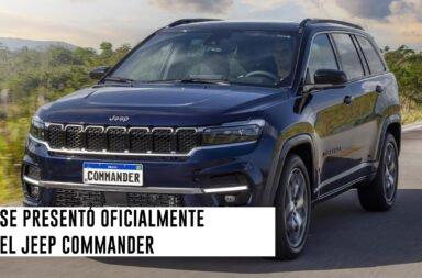 Se presentó oficialmente el Jeep Commander