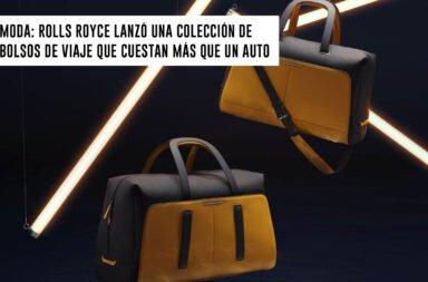 Moda: Rolls Royce lanzó una colección de bolsos de viaje que cuesta más que un auto