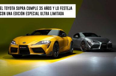 El Toyota Supra cumple 35 años y lo festeja con una edición especial ultra limitada