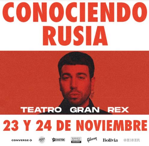Conociendo Rusia anuncia sus shows en el Gran Rex