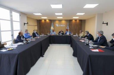 Alberto Fernández reunido con los gobernadores en La Rioja