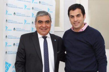 Germán Alfaro (izq.) y Ramón Lanús (der.)