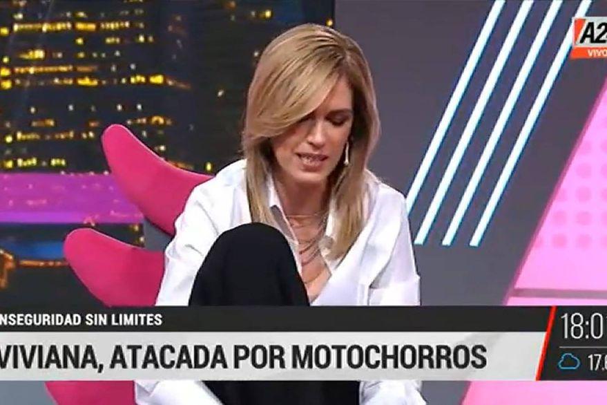 Viviana Canosa fue atacada por motochorros