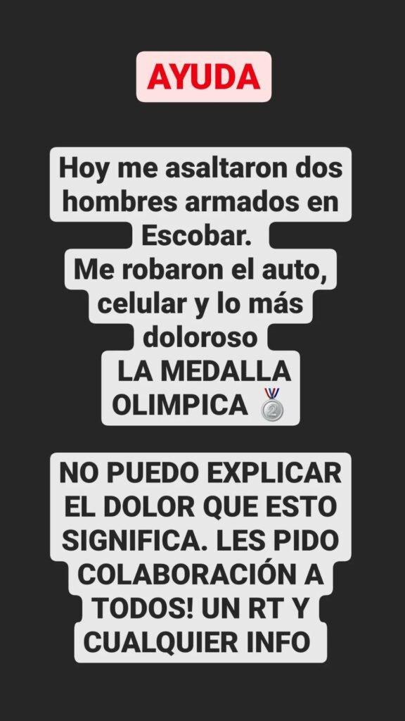 Asaltaron a la Leona Sofia Maccari y le robaron su medalla olímpica