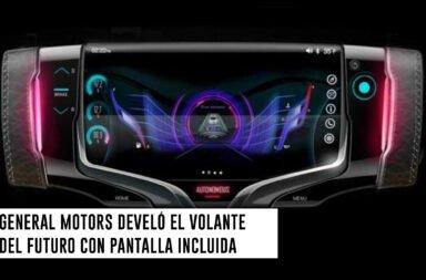 General Motors develó el volante del futuro con pantalla incluida