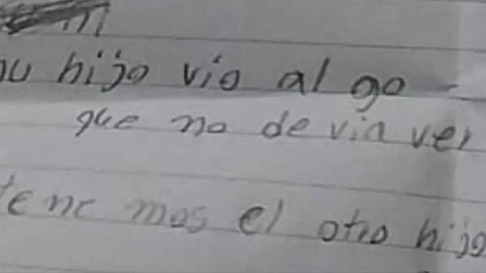 Encontró a su hijo muerto y una nota que decía: