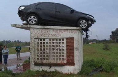 Auto en garita