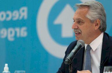 Alberto Fernández hoy al presentar Compre Argentino