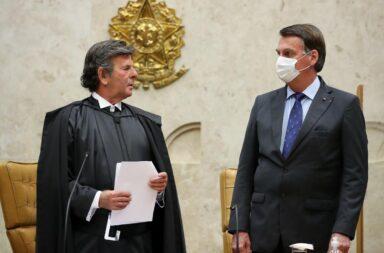 Luiz Fux presidente de la Corte y Jair Bolsonaro