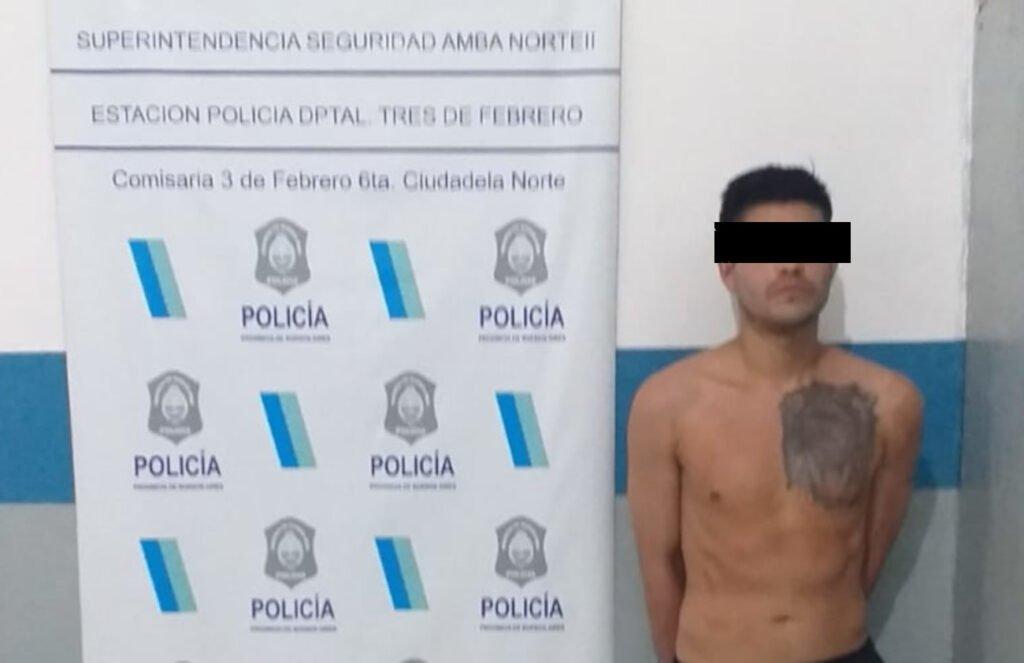 Carlos Duarte, detenido por el parricidio en Fuerte Apache.