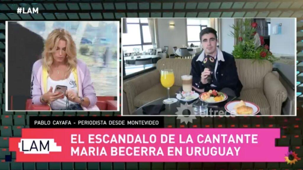 """María Becerra, show en Uruguay y escándalo: """"Nos dijeron con medios argentinos no"""