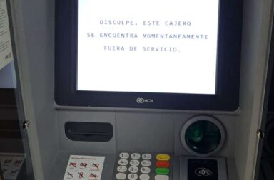 Se reportaron fallas en las operaciones de los cajeros automáticos y tarjetas de crédito