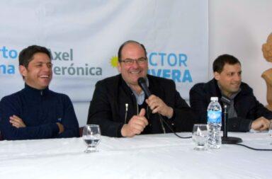 Axel Kicillof junto al intendente de Tordillo Héctor Olivera