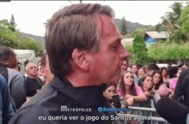 Le sacaron la roja: Bolsonaro no pudo entrar a ver un partido de fútbol por no estar vacunado