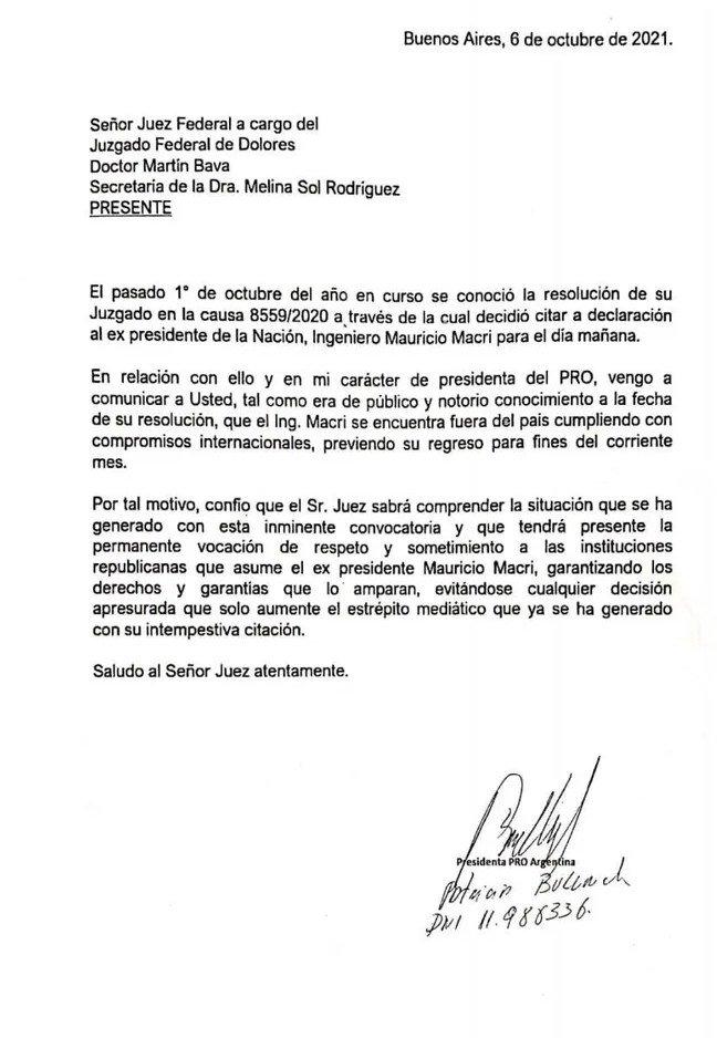 Mauricio Macri no se presentará a la indagatoria por espionaje a familiares del ARA San Juan