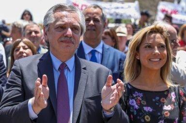 El Presidente Alberto Fernández y Fabiola Yañez