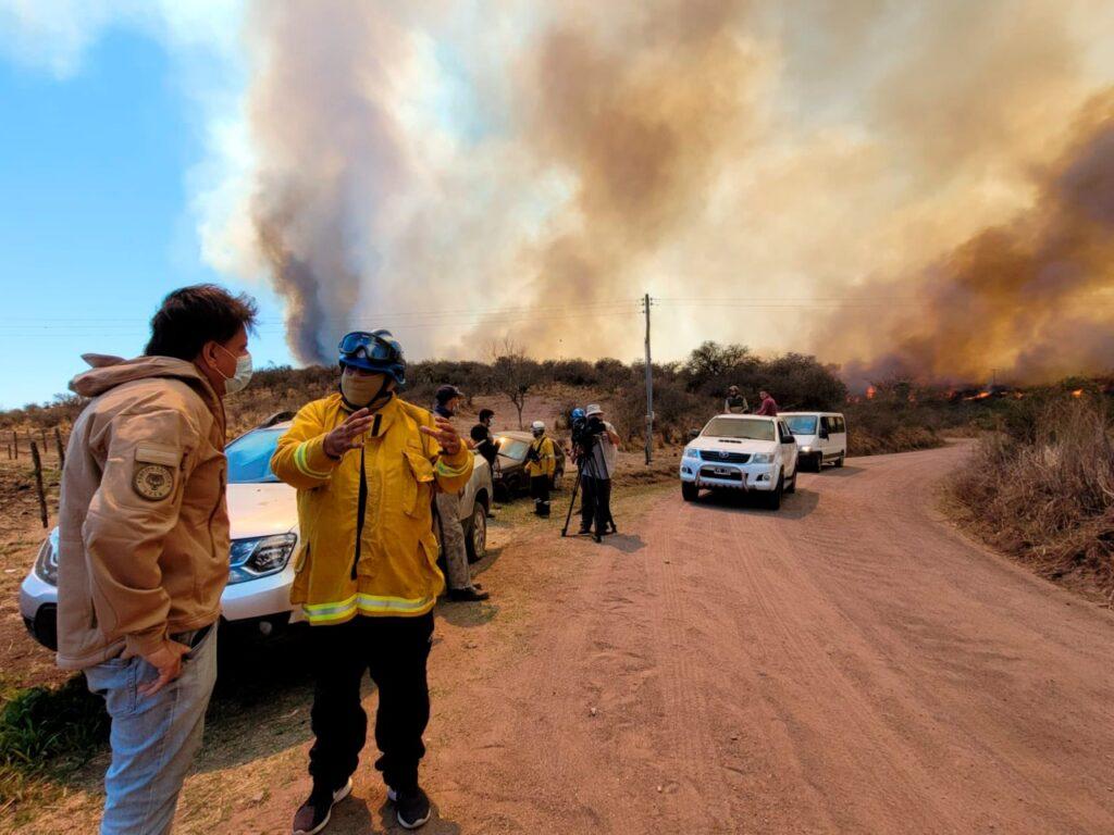 Incendios forestales | Continúan en cinco provincias del país: Córdoba y San Luis, las más complicadas
