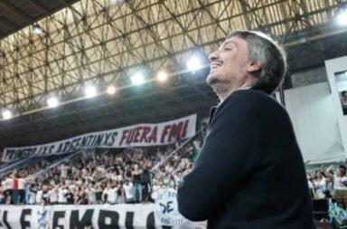 Máximo Kirchner en un acto de la Cámpora en Lanús