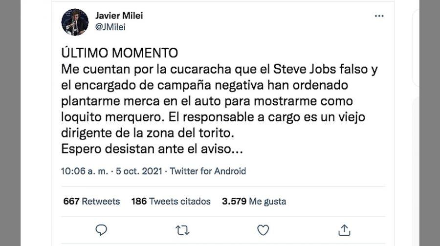 Javier Milei denunció que intentan ensuciarlo: