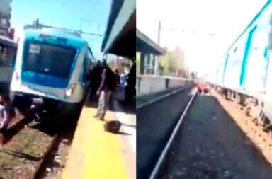 Las vías del Tren en Lanús donde la mujer intento quitarse la vida