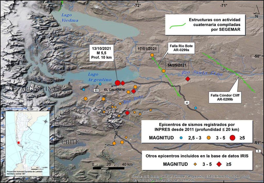 Destrozos durante el sismo en Calafate